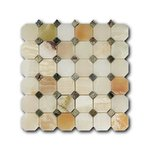 Octagon Pattern Verde Onix + Rain Forest Green Мозаика Marble Mosaic