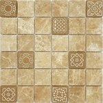 Art Emperador light 48x48x8 Мозаика Caramelle mosaic Art Stone