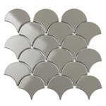 Fan Shape Dark Grey Glossy (BF1312) 90.5х83.5mm Мозаика Starmosaic Homework