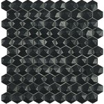 Matt 903D Black Мозаика Vidrepur Hexagon